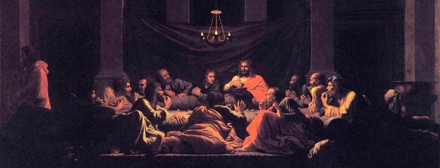 Painting by Nicholas Poussin: Institution of the Eucharist (1637)